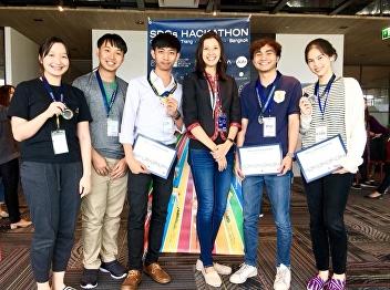 นายสหรัฐ ลักษณะสุตและทีมได้รับรางวัลชนะเลิศอันดับ 1 การแข่งขันสร้างสรรค์นวัตกรรมเพื่อสังคม